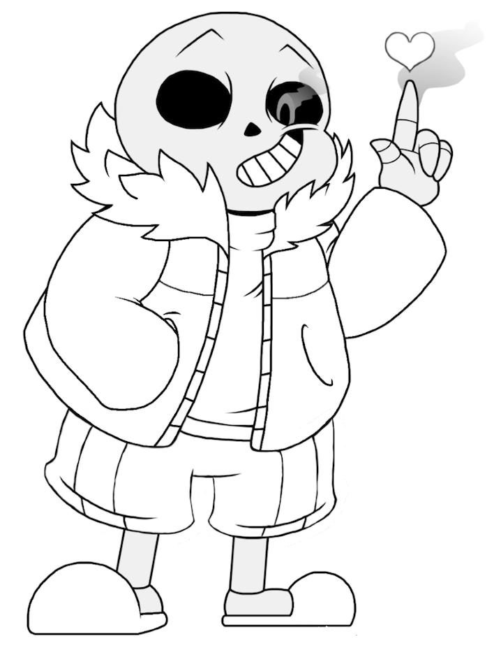 sans undertale coloring page free printable coloring pages
