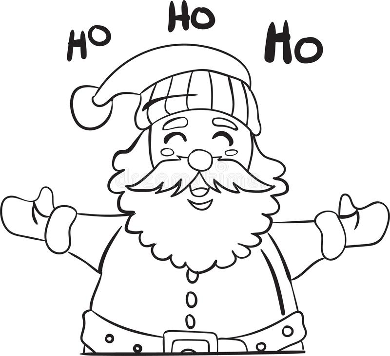 santa claus coloring page christmas edition stock vector
