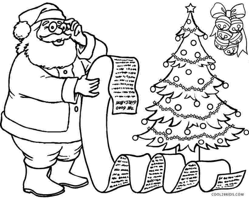 santa coloring sheets free santa coloring pages best