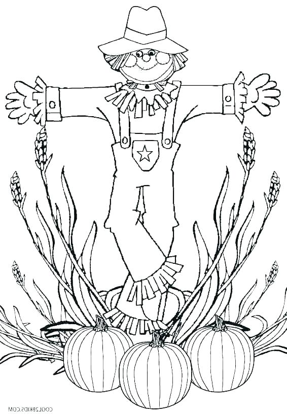 scarecrow hat coloring page dancekicks