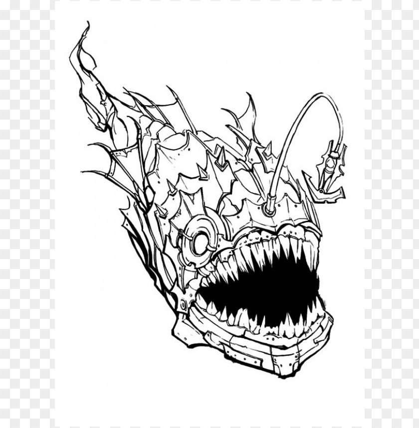scary coloring pages color png image with transparent