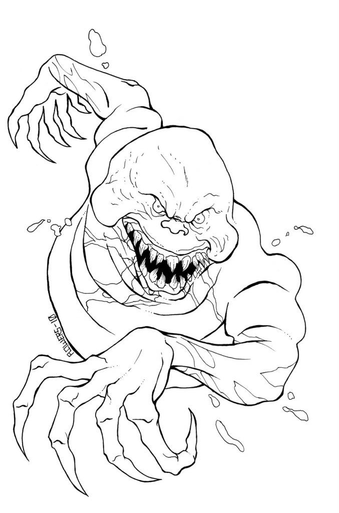 scary coloring pages monster coloring pages halloween