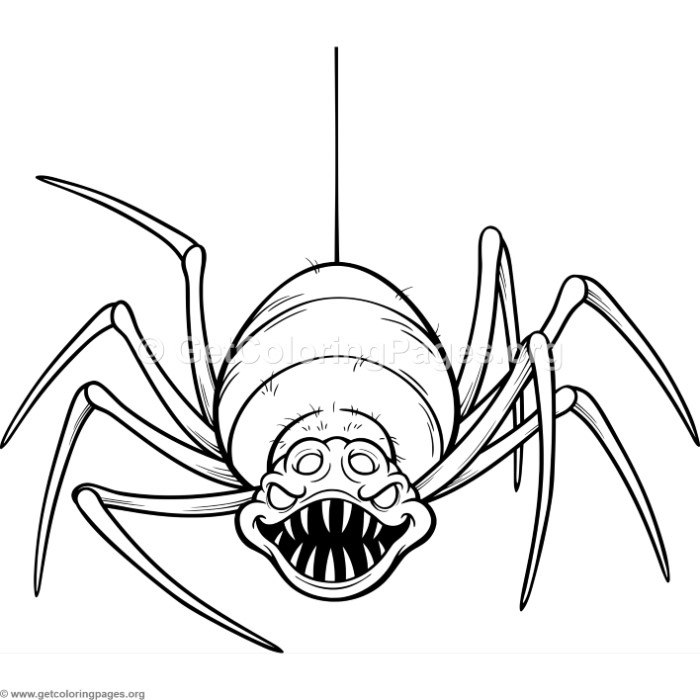 scary spider coloring pages at getdrawings free for