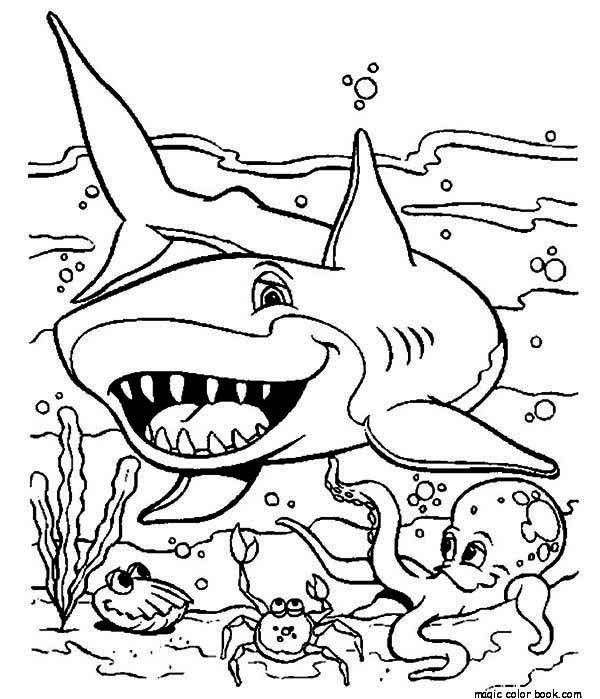 sea shark coloring pages to print out for your kids shark