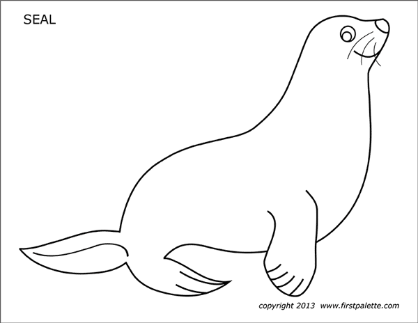 seal free printable templates coloring pages