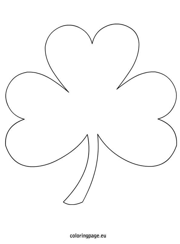 shamrock coloring page free from coloringpageeu lots of