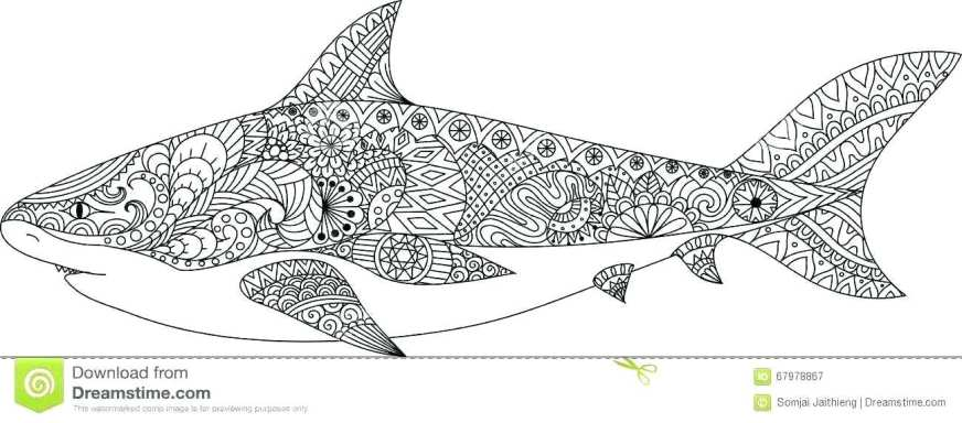 shark coloring pages printable free great white color