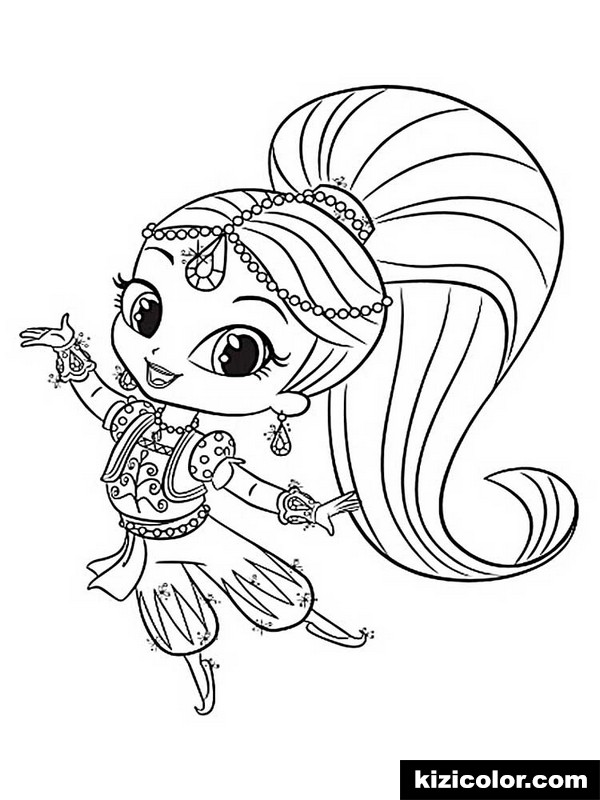 shimmer and shine 5 kizi free coloring pages for