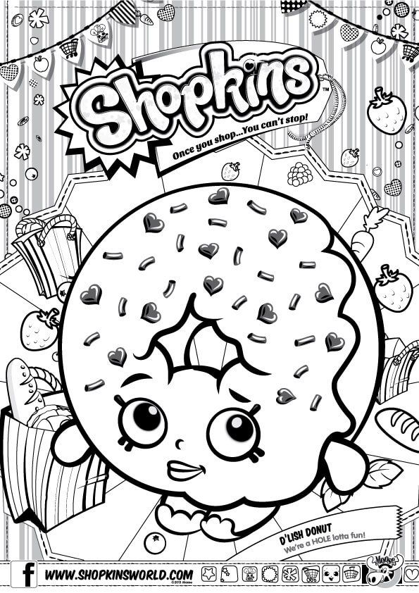 shopkins coloring pages season 1 dlish donut kostenlose