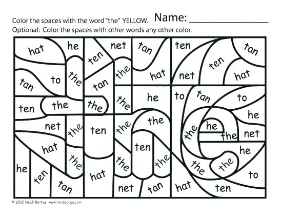 sight word coloring pages kindergarten cozy meet the words