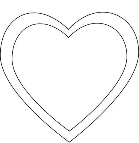 simple heart coloring page free printable coloring pages