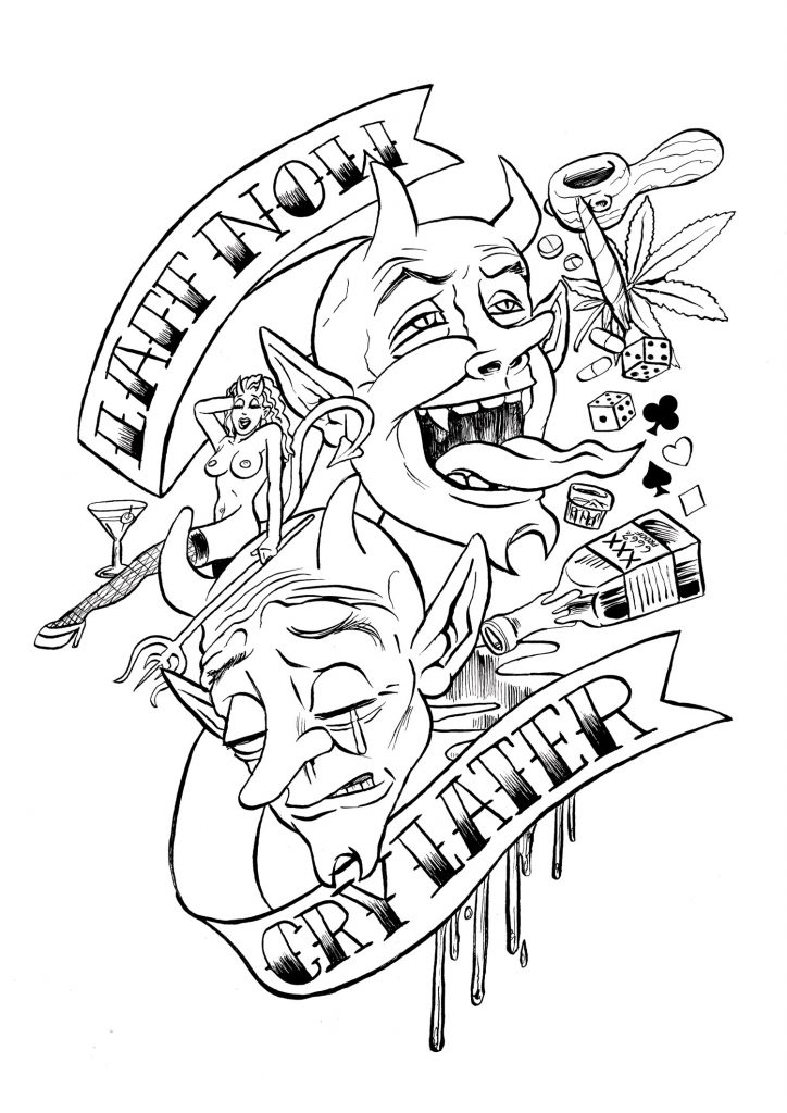 simple tattoo coloring pages