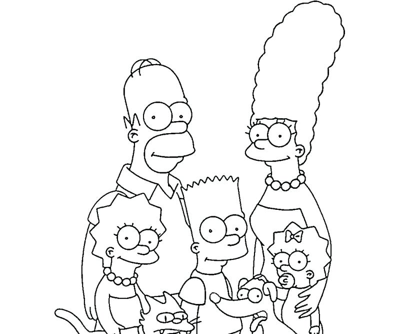 simpson coloring pages xinloclub