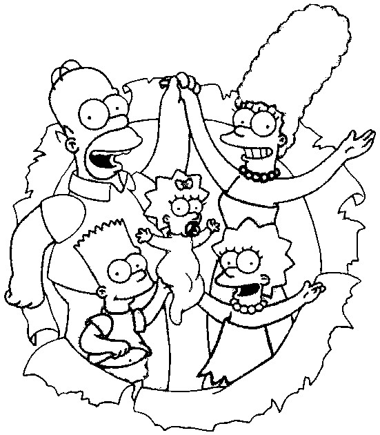 simpsons 81 cartoons printable coloring pages
