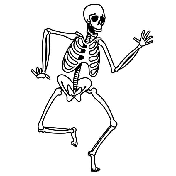 skeleton 51 characters printable coloring pages