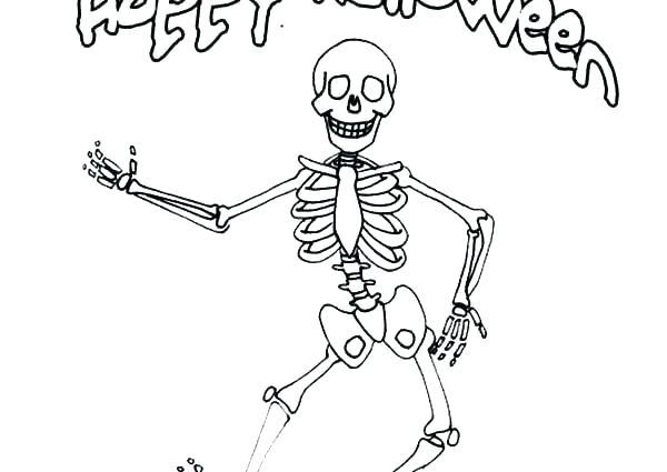 skeleton coloring page siirthaber