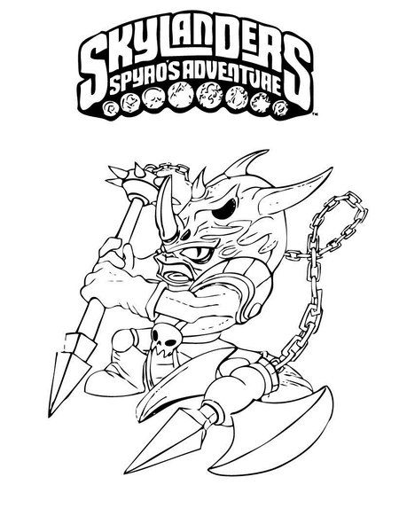 skylanders coloring page voodood coloring pages