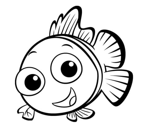 small fish coloring page free printable coloring pages