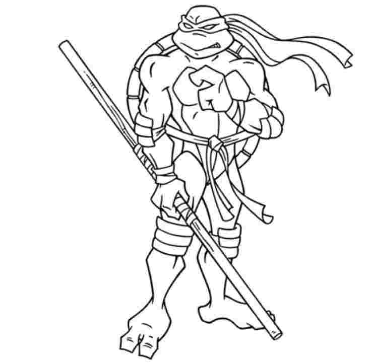 small ninja turtles coloring pages huangfei