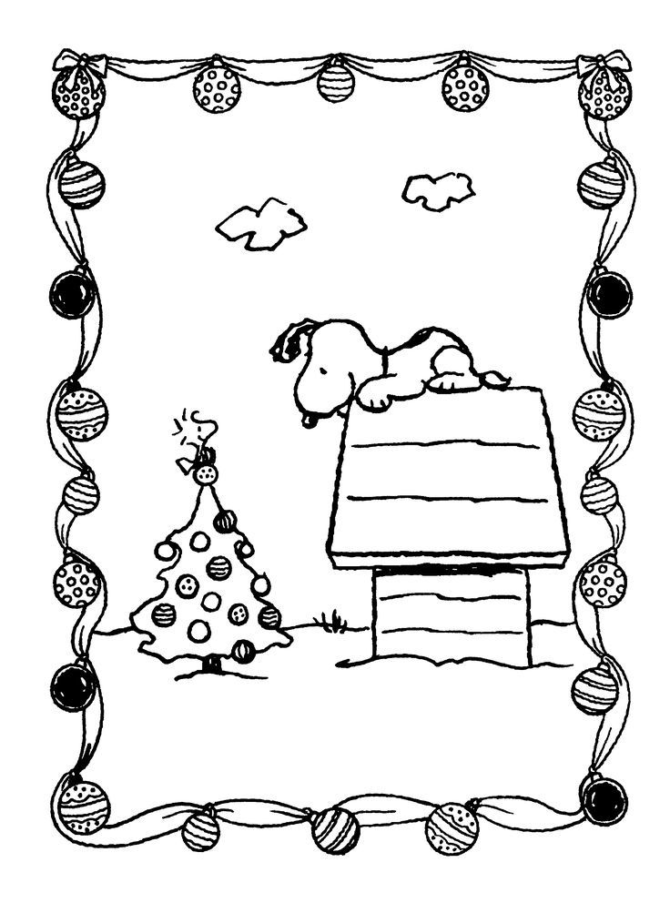 snoopy coloring pages for christmas christmas coloring pages