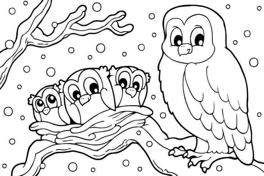 snow coloring pages pomorski