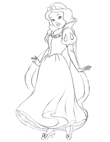 snow white coloring page free printable coloring pages