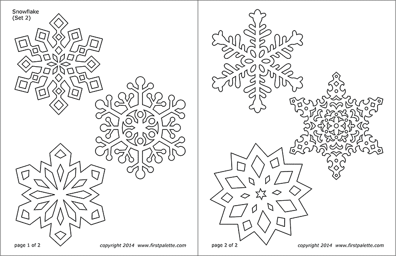 snowflake coloring pages free printable templates