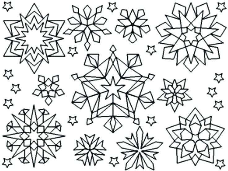 snowflakes line drawing at getdrawings free for