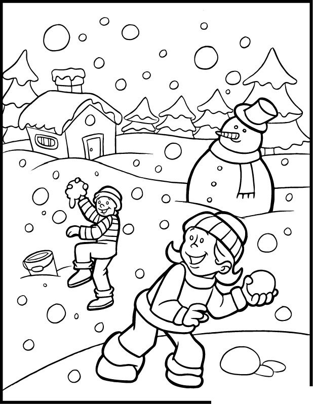 snowing coloring page coloring pages winter coloring