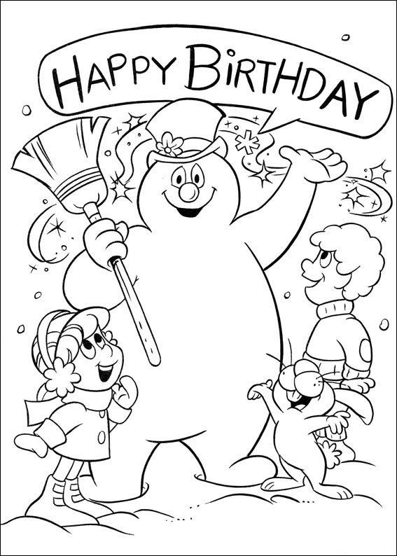snowman coloring page snowman coloring pages happy snowman