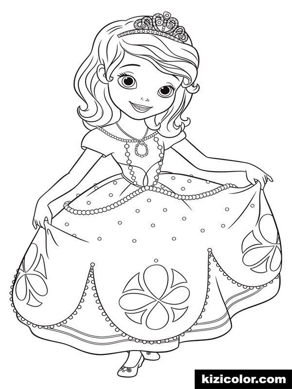 sofia the first 4 kizi free coloring pages for children