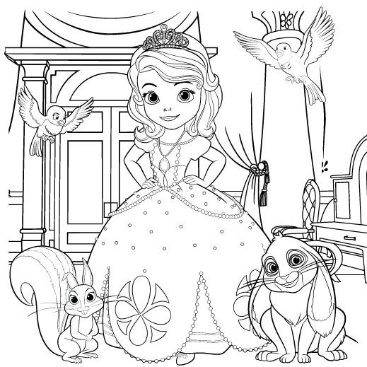 sofia the first coloring page malvorlagen ausmalbilder