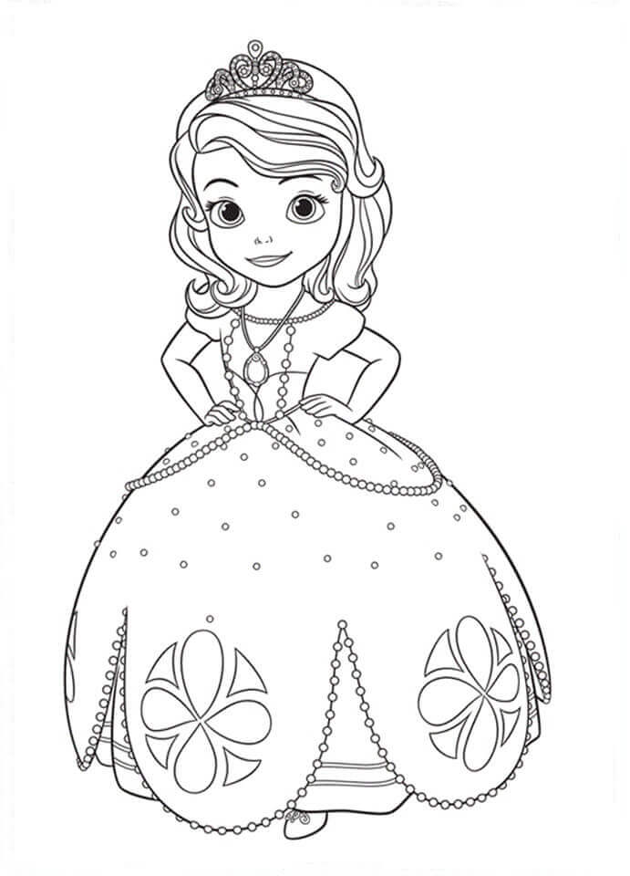 sofia the first disney princess coloring pages at