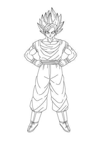 son goku coloring page free printable coloring pages