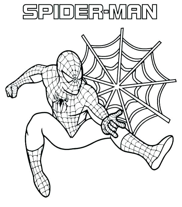 spiderman free coloring pages