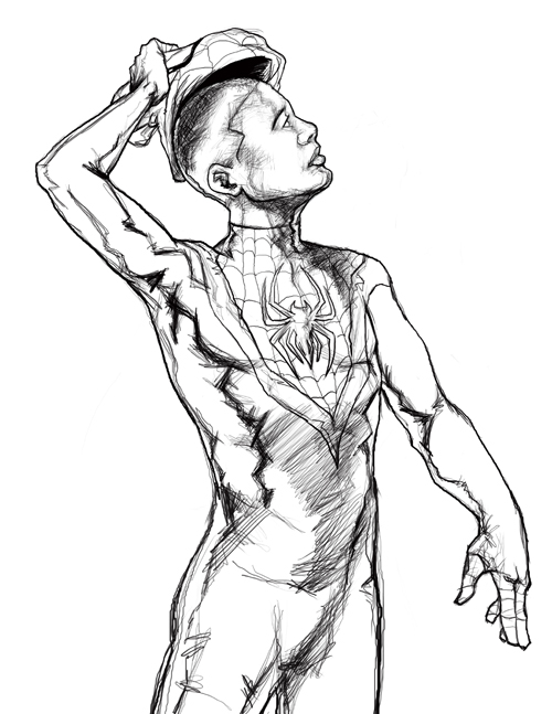 spiderman miles morales coloring pages
