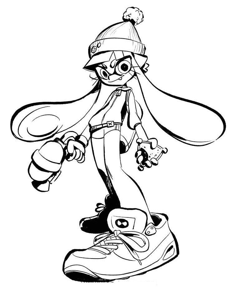 splatoon 2 coloring sheet splatoon coloring sheets tsum