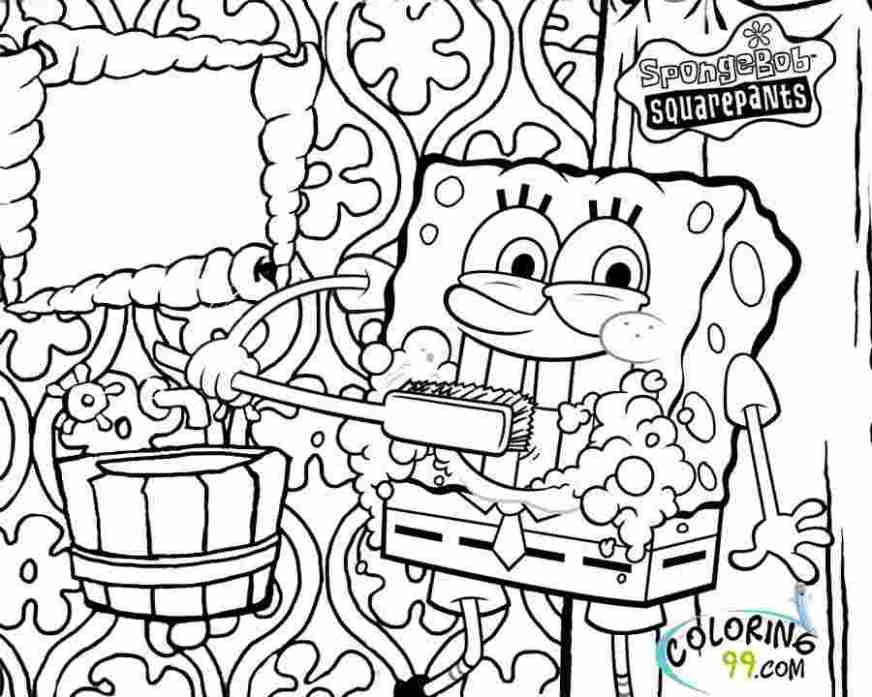 spongebob house coloring pages huangfei