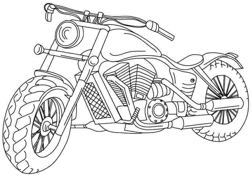 sporty motorcycle coloring pages picolour