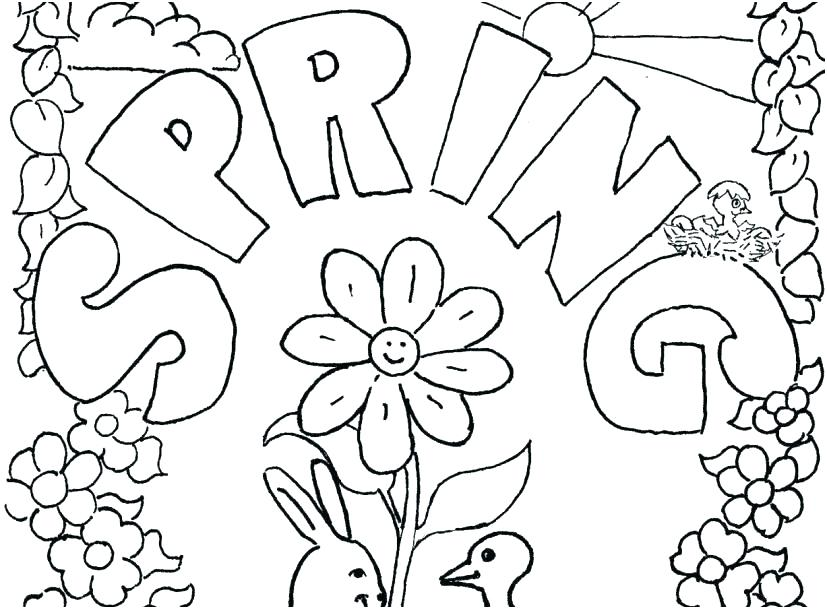 spring coloring page sheet for toddlers frankoshowclub