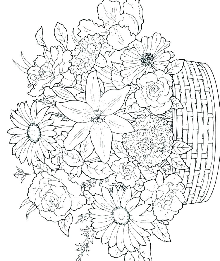 spring flower coloring pages on augmentationco