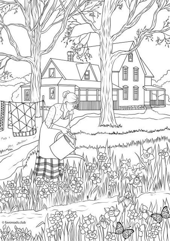 spring flowers printable adult coloring page from favoreads coloring book pages for adults and kids coloring sheets coloring designs