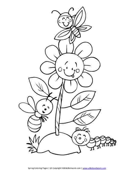 spring insects coloring pages free bug coloring pages at