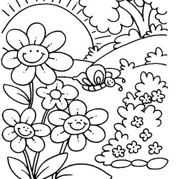 spring pictures coloring pages at getdrawings free for