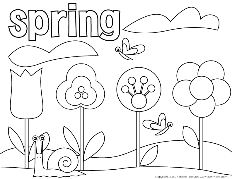 spring season 46 nature printable coloring pages