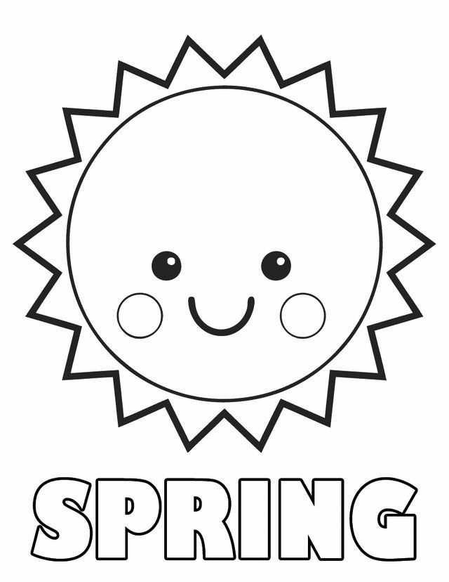 spring sun free printable coloring pages malvorlagen fr