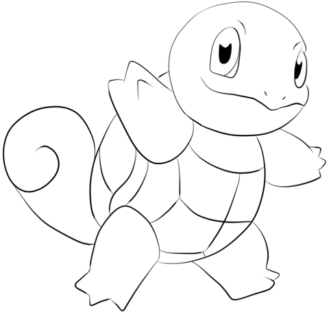 squirtle coloring page free printable coloring pages