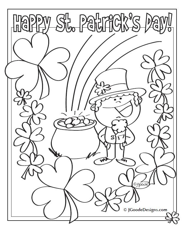 st patrick coloring page st patricks day crafts for kids