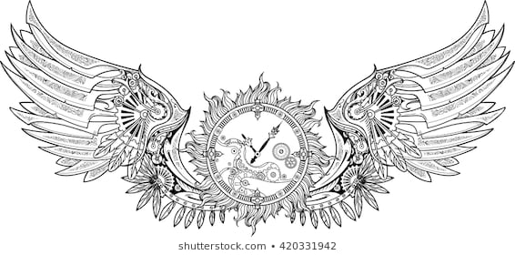 steampunk coloring pages stock vectors images vector art