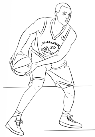 stephen curry coloring page free printable coloring pages